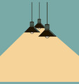 lighting ceiling lamps vector image