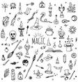 Magic set vector image