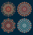mandala design elements collection stylized vector image vector image