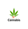 medical cannabis icon green hemp leaf marijuana vector image