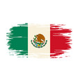 mexican flag brush grunge background vector image