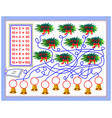 multiplication table 10 for kids write the vector image vector image