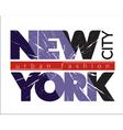 NYC t-shirt grunge vector image vector image