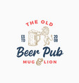 old beer pub or bar abstract sign vector image