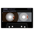 old school compact cassette vector image vector image