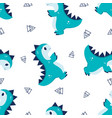 pattern with little dino vector image