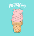 pigstachio cute kids cute pig vector image vector image