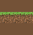 pixel minecraft style land background concept vector image