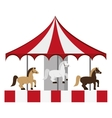 pretty carousel icon vector image