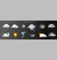 realistic weather transparent set vector image vector image