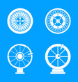 roulette wheel fortune icons set simple style vector image vector image