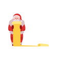 santa claus in red costume vector image