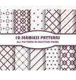 Seamless Patterns set vector image vector image