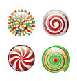 set lollipop spiral differents color design vector image
