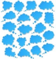 Set of paper blue clouds vector | Price: 1 Credit (USD $1)