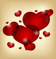 set of valentine hearts vector image vector image