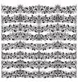 set of vintage border brushes templates baroque vector image vector image