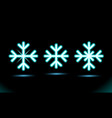 simple neon blue lamp oval stripes snowflakes vector image vector image