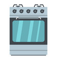 small gas oven icon cartoon style vector image vector image