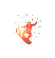 snowboard winter sport speed extreme concept vector image vector image