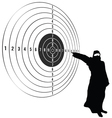 target with man vector image