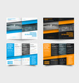 template is a bi-fold business brochure with a vector image vector image