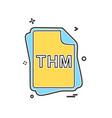 thm file type icon design vector image
