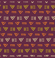 tribal african aztec ornament seamless pattern vector image vector image