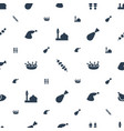 turkey icons pattern seamless white background vector image vector image