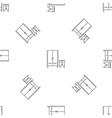 wardrobe pattern seamless vector image vector image