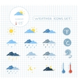 Weather forecast icons set vector image vector image