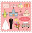 Wedding Icons Collection vector image vector image