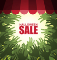 Zombie crowd Halloween sale vector image vector image