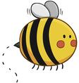 Cute Bee Flying vector image