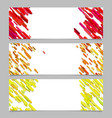 abstract banner background template design set vector image vector image