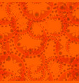 abstract seamless pattern of orange tentacles and vector image vector image