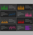 analytics set of web pages vector image