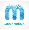 aqua m music sound logo concept vector image