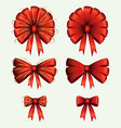 christmas set decorative ribbons on white vector image vector image