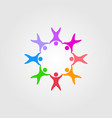 circle people family together human unity logo vector image