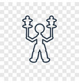 Circus stunt man concept linear icon isolated on