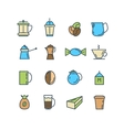 Color set of line icons Coffee Turk vector image