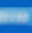 countdown clock board for coming soon page vector image vector image