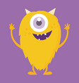 cute monster cartoon character 001 vector image vector image