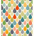 cute water droplet seamless pattern vector image vector image