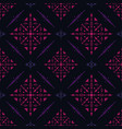 dark seamless pattern with fuchsia tribal vector image