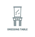 dressing table line icon linear concept vector image vector image