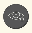 eye and tear round icon with the vector image vector image
