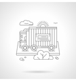 Freight car detailed line vector image