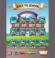 game template with school background vector image